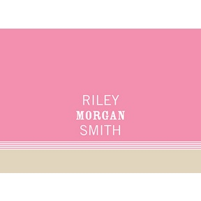 Lovely Stripes in Pink -- Baby Thank You Cards