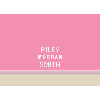 Lovely Stripes in Pink Baby Thank You Cards