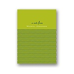 Stylish Swirls in Green -- Thank You Card