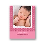 Stylish Swirls in Pink -- Photo Birth Announcement
