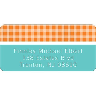 Criss Cross Love in Orange -- Address Label