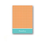 Criss Cross Love in Orange -- Thank You Card