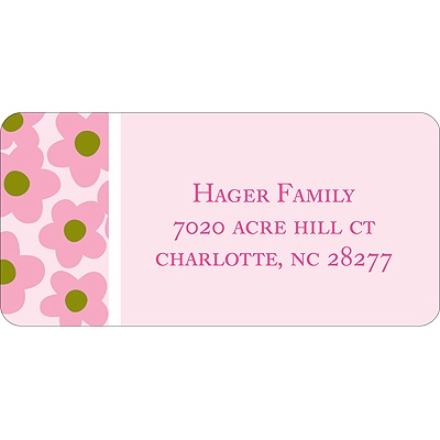Playful Petals -- Address Label