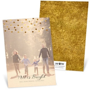 Bright String of Lights Vertical -- Christmas Cards