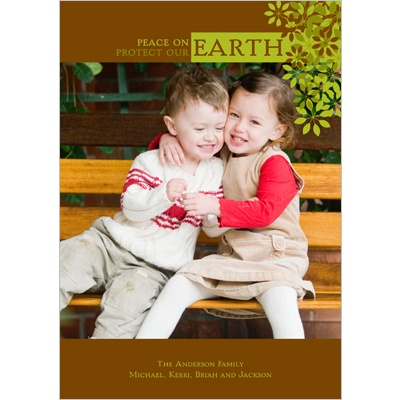 Earthly Peace -- Recycled Photo Christmas Card