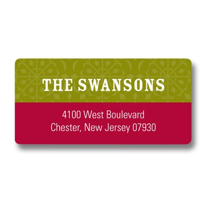 Warmest Seasons Greetings Christmas Address Labels