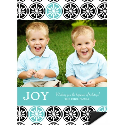 Stylish Snowflake Delight - Photo Magnet Christmas Card