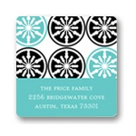 Stylish Snowflake Delight -- Christmas Address Label