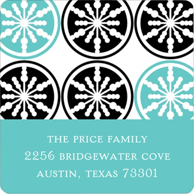 Stylish Snowflake Delight Christmas Address Labels