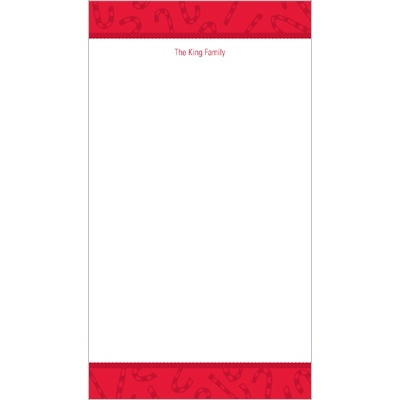 Peppermint Candy Canes -- Christmas Stationery