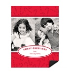 Peppermint Candy Canes -- Photo Magnet Christmas Card