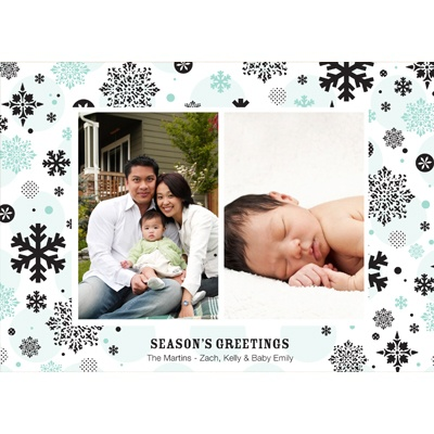 Falling Snowflakes -- Photo Christmas Card