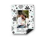 Falling Snowflakes -- Magnet Photo Christmas Card