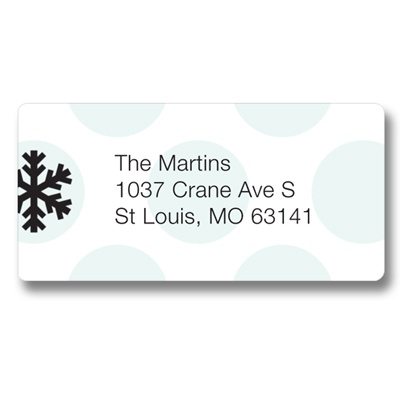 Falling Snowflakes -- Christmas Address Label