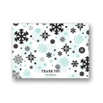 Falling Snowflakes -- Christmas Thank You Card