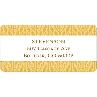 Detailed Pattern Christmas Address Labels