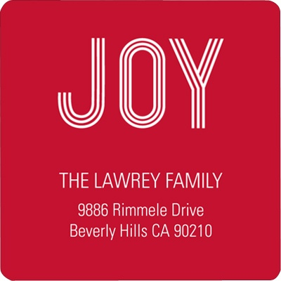 Holiday Joy -- Christmas Address Label