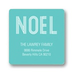 Noel Greeting Tag -- Christmas Address Label