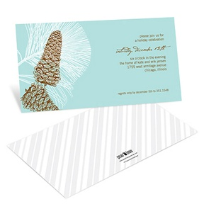 Sketched Pinecones -- Holiday Party Invitations