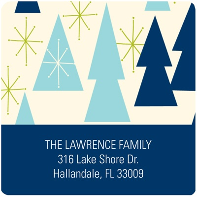 Joyful Christmas Treescapes -- Christmas Address Label