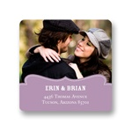 Shapely Frame -- Save the Date Address Labels