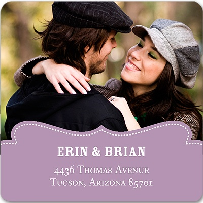 Shapely Frame Save the Date Address Labels