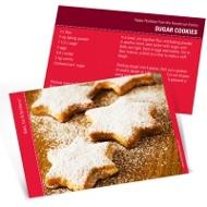 Homemade Holiday Goodies Horizontal Recipe Photo Christmas Card