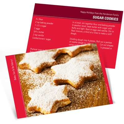 Homemade Holiday Goodies Horizontal Recipe Photo Christmas Card