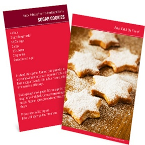 Homemade Holiday Goodies -- Vertical Recipe Photo Christmas Card