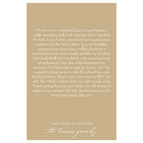 Warmest Greetings -- Vertical Christmas Letter Insert