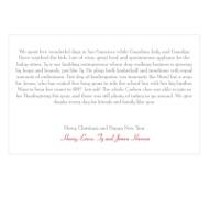 Seasons Greetings Horizontal Christmas Letter Insert