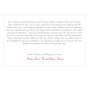 Seasons Greetings -- Horizontal Christmas Letter Insert