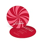 Peppermint Swirl in Red -- Christmas Party Invitations