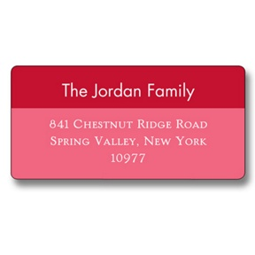 Simple Reds -- Christmas Address Labels