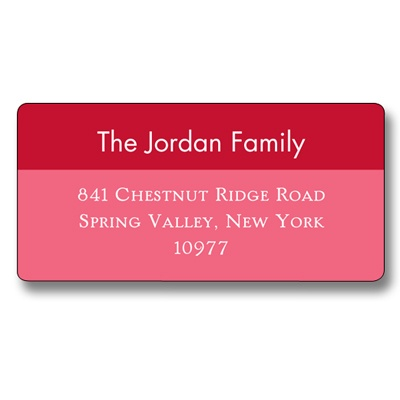 Simple Reds -- Christmas Address Label