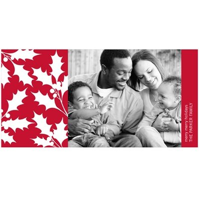 Christmas Holly Cut-Outs -- Holiday Photo Cards