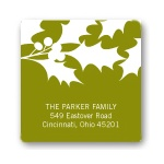 Christmas Holly Cut-Outs -- Christmas Address Label