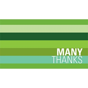 Shades of Stripes in Green -- Christmas Thank You Cards
