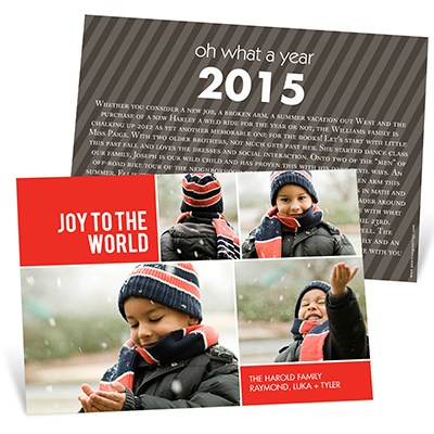 Bringing Joy to the World Photo Christmas Cards