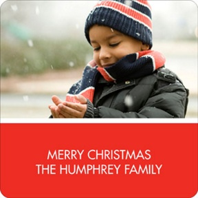 Simply Merry -- Personalized Stickers