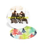 Multicolor Tree Prints -- Photo Christmas Cards