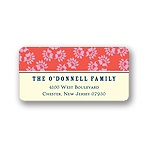 Speckled Pattern -- Christmas Address Label