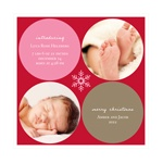 Simply Snowflake Baby Girl -- Christmas Photo Birth Announcements