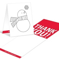 Snowman Portrait Coloring Card Christmas Thank You Cards