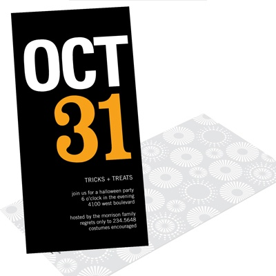 Ghosts and Goblins Galore Halloween Party Invitation