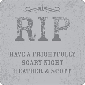 Spooky Tombstone -- Personalized Stickers