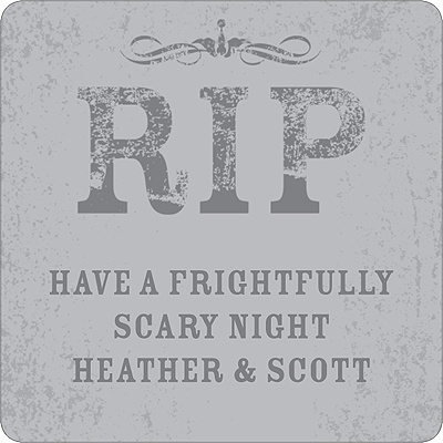 Spooky Tombstone Personalized Stickers
