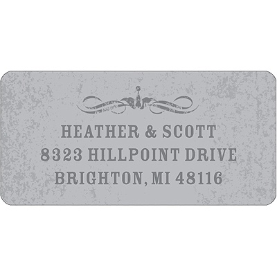 Spooky Tombstone Halloween Address Label