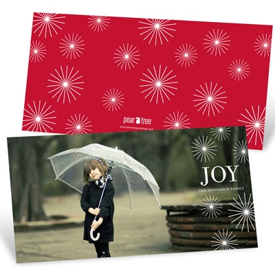 Radiant Christmas Stars - Horizontal Photo Christmas Card