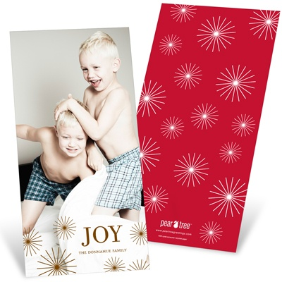 Radiant Christmas Stars Vertical Photo Christmas Cards